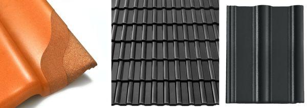 Błyszczące dachówki betonowe
