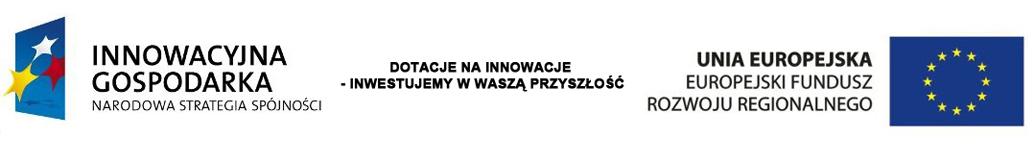 Projekt współfinansowany przez Unie Europejską w ramach środków Europejskiego Funduszu Rozwoju Regionalnego